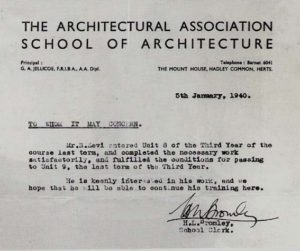 Ammissione al terzo anno all'Architectural Association School of Architecture